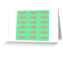 Fish (Red Green) Greeting Card
