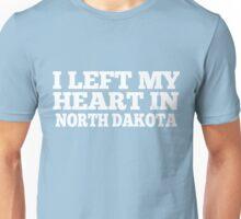 I Left My Heart In North Dakota Love Native T-Shirt Unisex T-Shirt