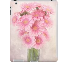 Staggered Bouquet of Pink Gerbera Daisies iPad Case/Skin