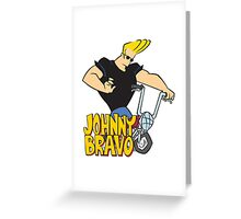 Johnny Bravo Cartoon Funny 2 Greeting Card