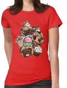 Dogs & Desserts Womens Fitted T-Shirt