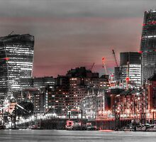 City of London at night by DavidHornchurch