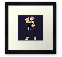 project silhouette 2.0: Dark Ryu Framed Print
