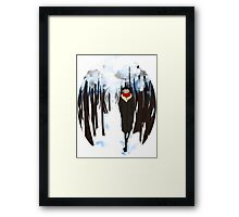 with scarves of red tied round their throats Framed Print