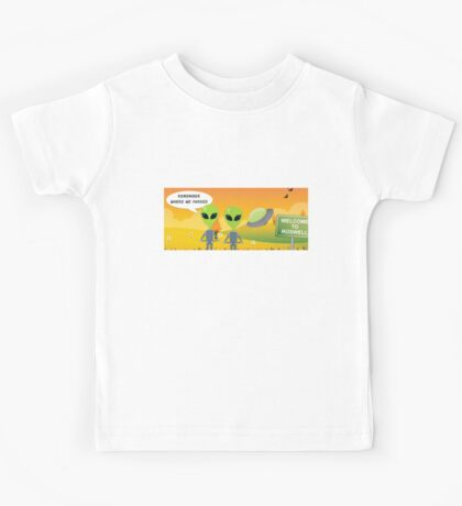 UFO Aliens: Remember Where We Parked  Kids Tee