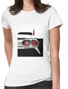 1961 Cadillac Tail Fin - Detail High Contrast Womens Fitted T-Shirt