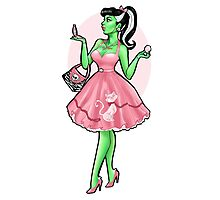 Pin Up Bride of Frankenstein Photographic Print