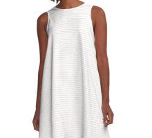 Blushing Bride Stripes A-Line Dress