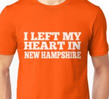I Left My Heart In New Hampshire Love Native T-Shirt Unisex T-Shirt