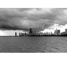 Looming Storm Over Chicago Photographic Print