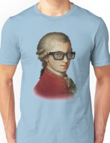 Funny Happy Hipster Mozart Unisex T-Shirt
