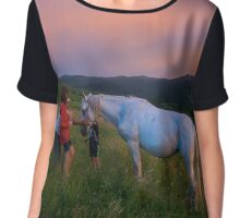 Carpathian Horse Chiffon Top