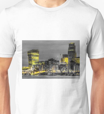 City of London at night Unisex T-Shirt