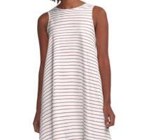 Bridal Rose Stripes A-Line Dress