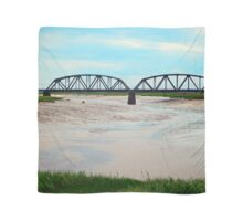 Low Tide at the Sackville Train Bridge Scarf