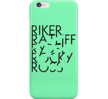 R5 With Invisible Logo Cut Out iPhone Case/Skin