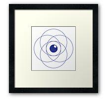 Erudite Eye - Blue Framed Print