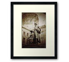 Governor Statue Framed Print