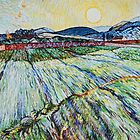 Wheat Field With Setting Sun by Maxon