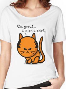 Grumpy cat on shirt Women's Relaxed Fit T-Shirt