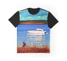 Lakeside Stroll Graphic T-Shirt