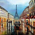 Rainy Paris by Maxon