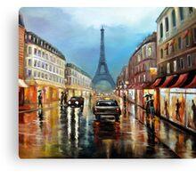 Rainy Paris Canvas Print