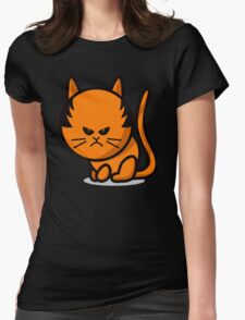 A grumpy cat Womens Fitted T-Shirt