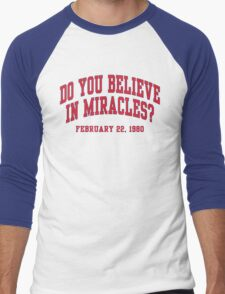Do You Believe In Miracles? Men's Baseball ¾ T-Shirt