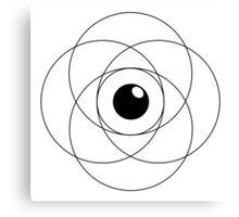 Erudite Eye - Black Canvas Print
