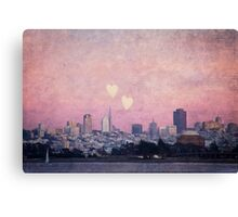 Where We Left Our Hearts (San Francisco) Canvas Print