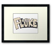 // Dr Fluke // Don't Stop Superheroes // Luke // Framed Print