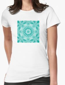 blue background Womens Fitted T-Shirt