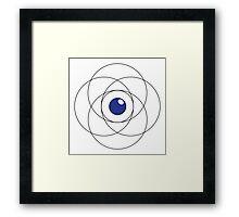 Erudite Eye - Black & Blue Framed Print