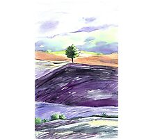 Watercolor landscape Tuscan. Photographic Print