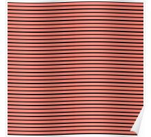Peach Echo and Black Stripes Poster