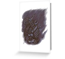 Oni Engine Greeting Card