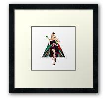 Kylie Minogue Snow White Christmas Framed Print