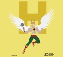 Hawkman - Superhero Minimalist Alphabet Clothing Kids Tee