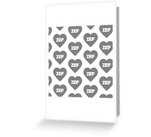 Greyscale Zef  Greeting Card
