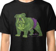 English Bulldog Hulk Avengers Marvel Superhero Classic T-Shirt