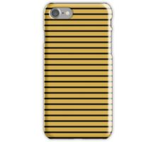 Spicy Mustard and Black Stripes iPhone Case/Skin