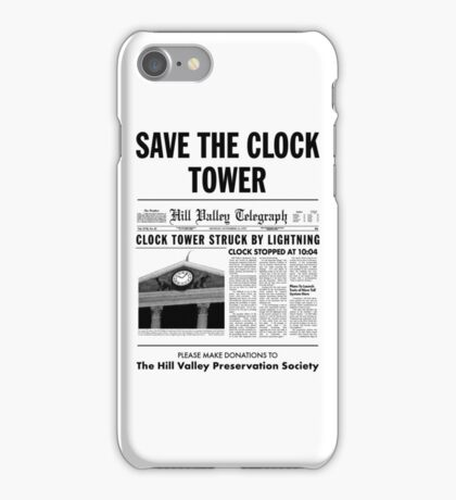 Save the clock tower iPhone Case/Skin