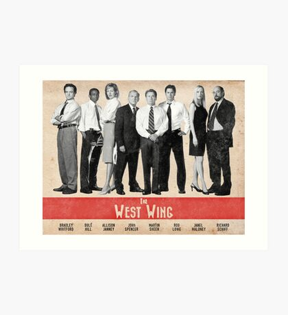 The West Wing Retro Poster Art Print