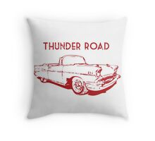 Thunder Road Throw Pillow