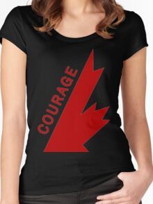 TRAGICALLY HIP - COURAGE TOP LEGEND Women's Fitted Scoop T-Shirt
