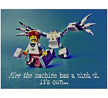 Flee the machine has a mind of it's own!! Photographic Print