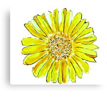 Bright and big yellow flower Canvas Print