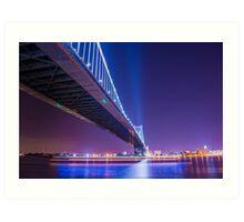 Ben Franklin Bridge - Philadelphia, PA  Art Print