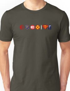 Coexist... So many worlds, why choose just one? Unisex T-Shirt